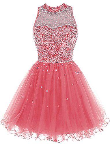 Bbonlinedress Short Tulle Beading Homecoming Dress Prom G...