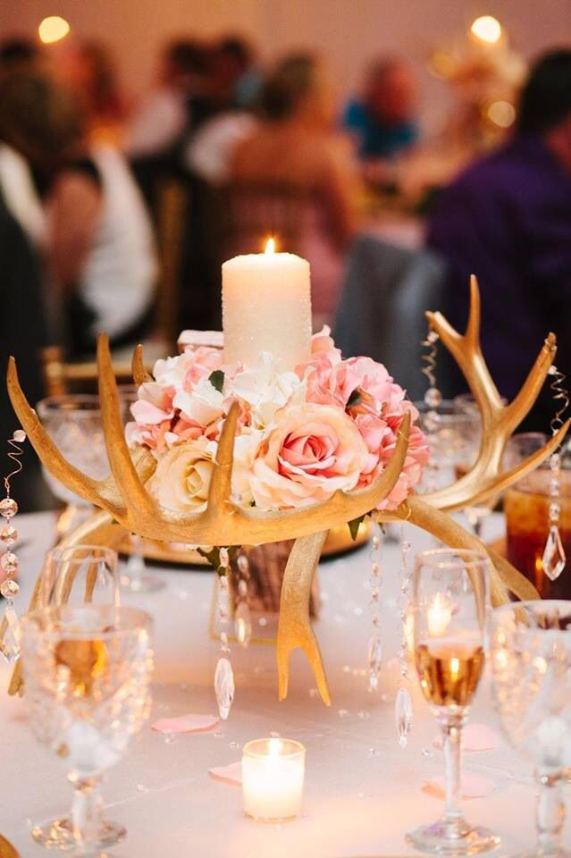 Bride to Be Reading ~ Antler Wedding Centerpiece, antler centerpiece