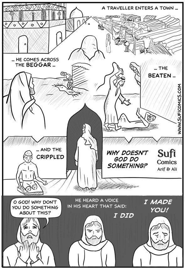 Why doesn't God do something? - Sufi Comics