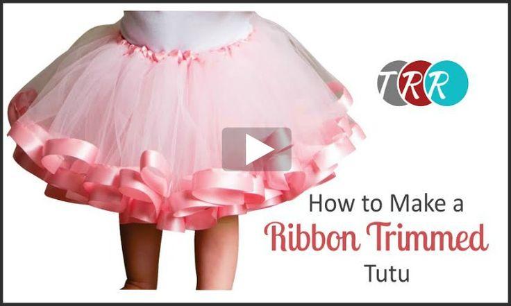How To Make A Ribbon Trimmed Tutu, YouTube Thursday - The Ribbon Retreat Blog