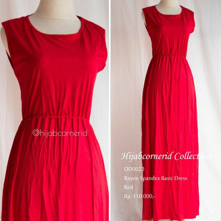 Red alert | basic dress collection fr http://hijabcornerid.com