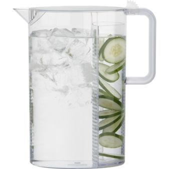 pitcher - flavor waterKitchens, Ceylon Pitcher, Oval Shape, Cucumber Water, Brew Teas, Infused Water, Clear View, Flavored Water, Servings Piece