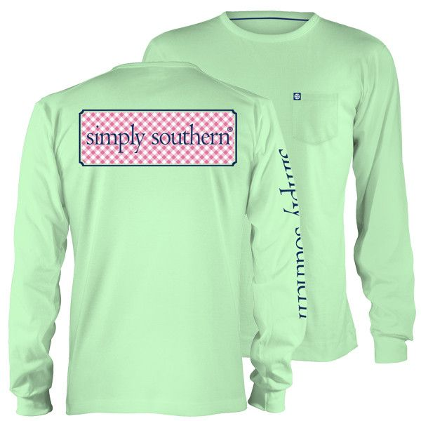 Simply Southern Collection Classic Logo Mint Long Sleeve