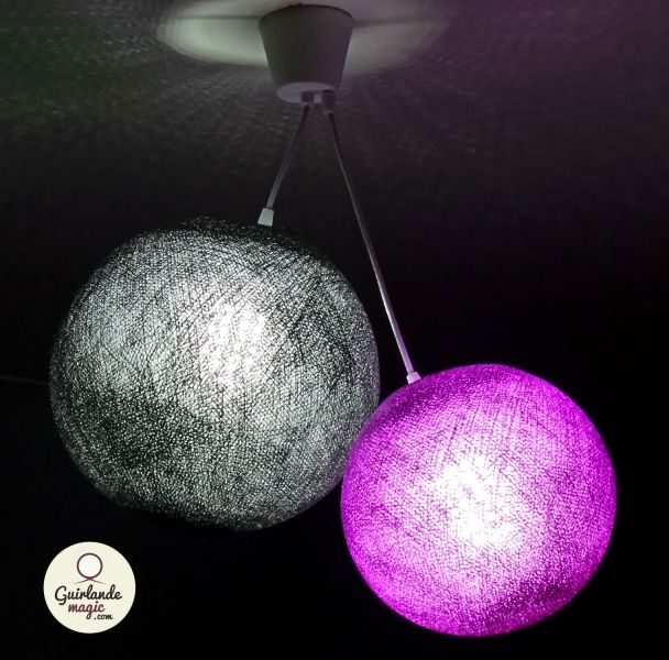 plafonnier 2 boules guirlande lumineuse led arbre lumineux lampe arbre luminaire boule. Black Bedroom Furniture Sets. Home Design Ideas