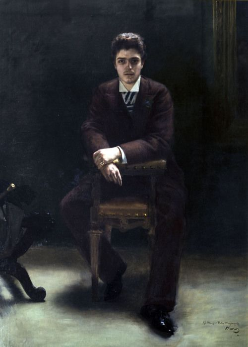 Pietro Mascagni (1863-1945), painting (1891), by Vittorio Corcos (1859-1933).