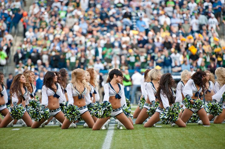 Images of the Sea Gals as they perform during Monday Night Football at CenturyLink Field.