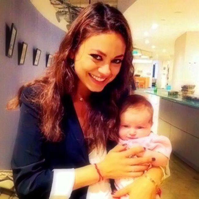 Mila Kunis' Baby Girl Is So Cute! Amazing Photo Of Wyatt Isabelle Shows Ashton Kutcher's Daughter Is Growing Up! But Mila Kunis confesses her biggest parenting mistake #Milakunis #parenting #baby #celebs #celebrity #celebritymom #cute #childcare #picoftheday