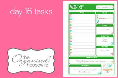 {The Organised Housewife} 20 Days to Organise & Clean your Home Challenge - Day 16