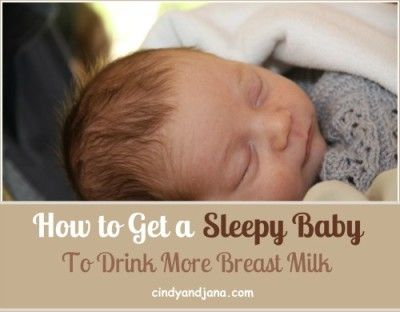 Breast Compression can help a sleepy or jaundiced baby get more milk. How-to instructions in this post.