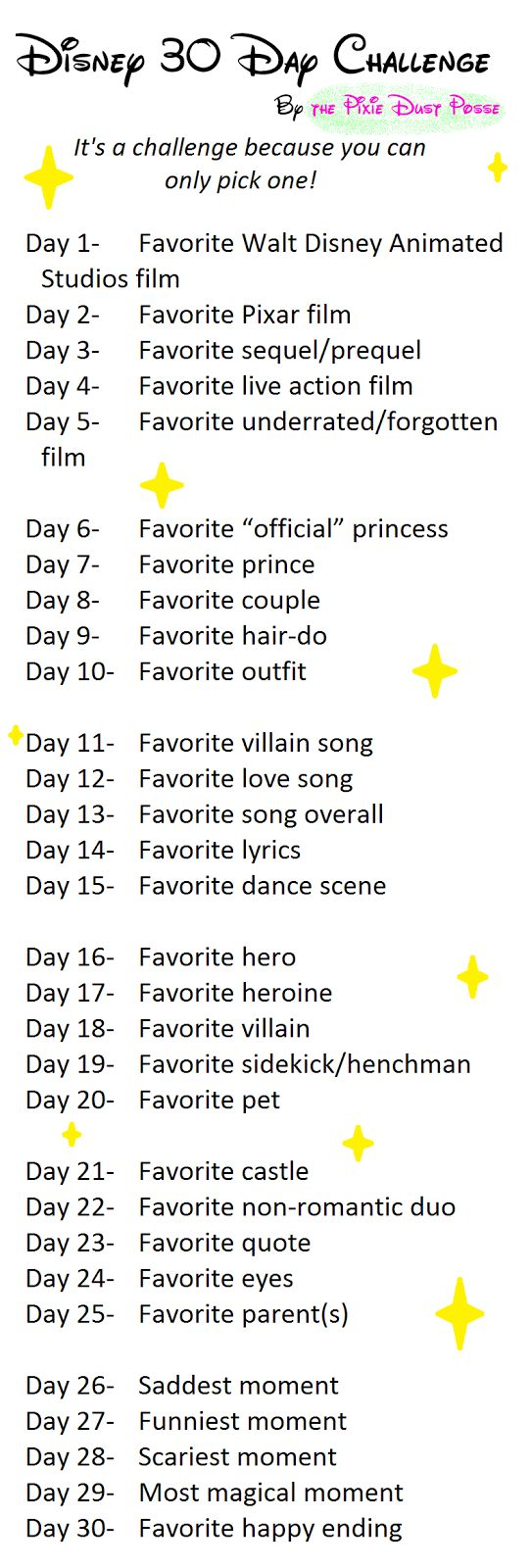 Disney 30 Day Challenge- Ok so I'm redoing the challenge again! And I'm actually going to stick to it this time! Ended up picking this one