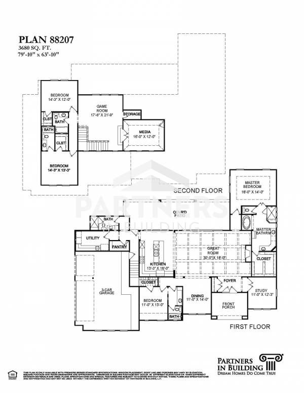 25 best partners in building images on pinterest house floor plans plan 88207 is a 3680 sqe ft 4 bedroom plan built and designed by partners in building custom home builder in texas malvernweather Gallery