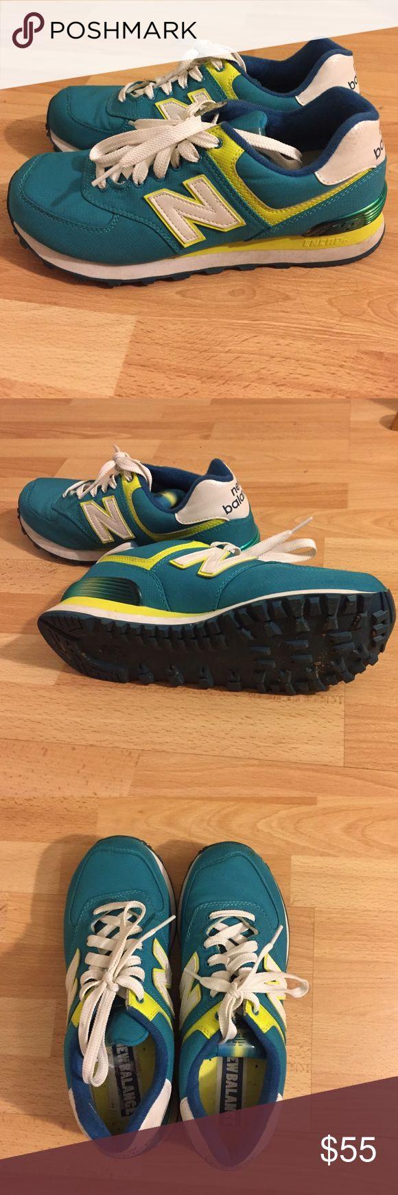 New balance encap sneakers Highlighter green and teal new balance sneakers. New Balance Shoes