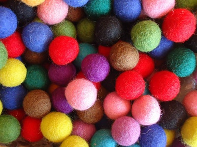 These cute looking FELT BALLS are available in assorted colors . You can make FELT BALL GARLANDS for birthday PARTY , BABY SHOWERS, Weddings.$9.40