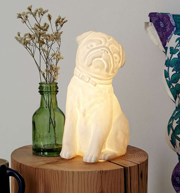 A porcelain Pug table lamp: what more could you want?