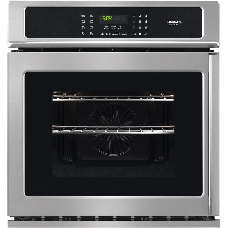 """Frigidaire - Gallery Series 27"""" Built-In Single Electric Convection Wall Oven - Stainless steel (Silver), FGEW276SPF"""