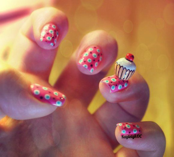 Some tasty cupcake nails to model while I'm experimenting with photo filters :) Fun fun fun! x www.facebook.com/KayleighOCNailArt