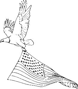 1000 images about bald eagles and birds of prey studies for Heart american flag coloring page