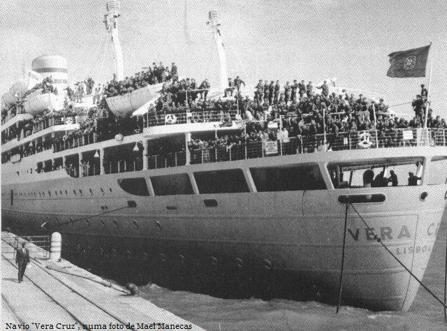 Navio Vera Cruz que chega do Ultramar