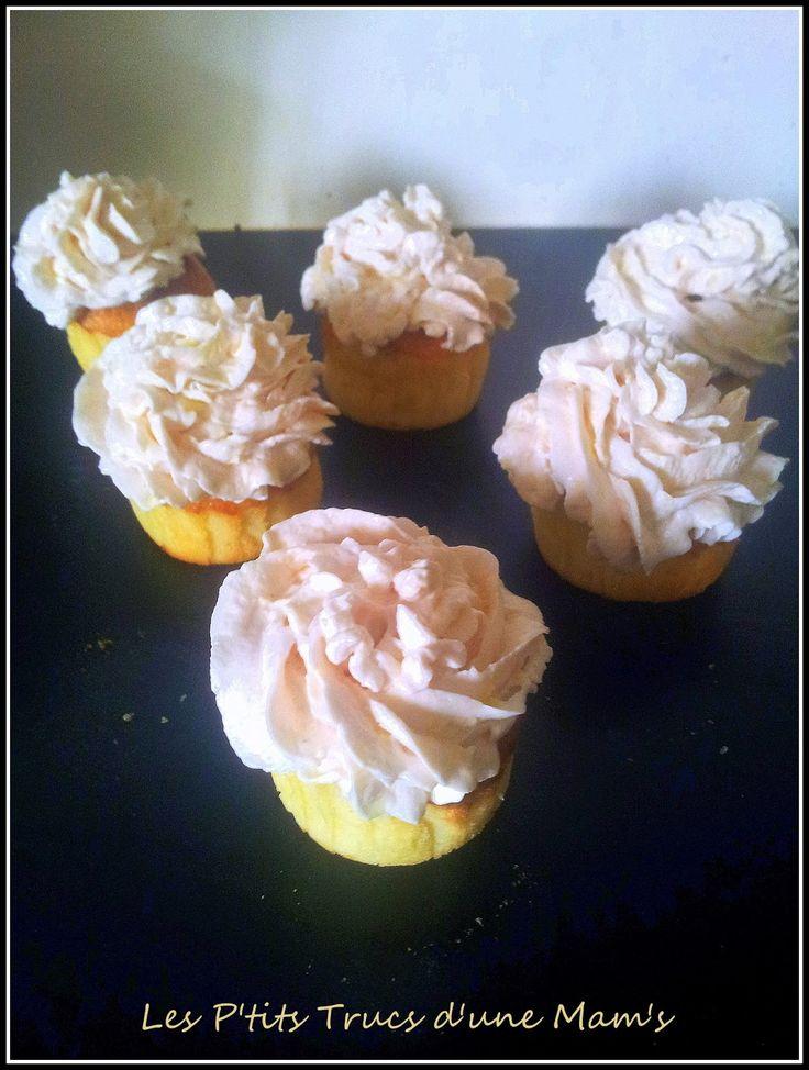 Les P'tits Trucs d'une Mam's: Mes cupcakes citron et topping au jus d'airelles