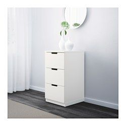 IKEA - NORDLI, Chest of 3 drawers, , You can use one modular chest of drawers or combine several to get a storage solution that perfectly suits your space.You can easily create your own personal design by mixing chests of different colours.Integrated damper catches the running drawer and closes it slowly, silently and softly.The concealed drawer runners ensure that drawers run smoothly even when heavily loaded.Adjustable feet make it possible to compensate any irregularities in the floor.