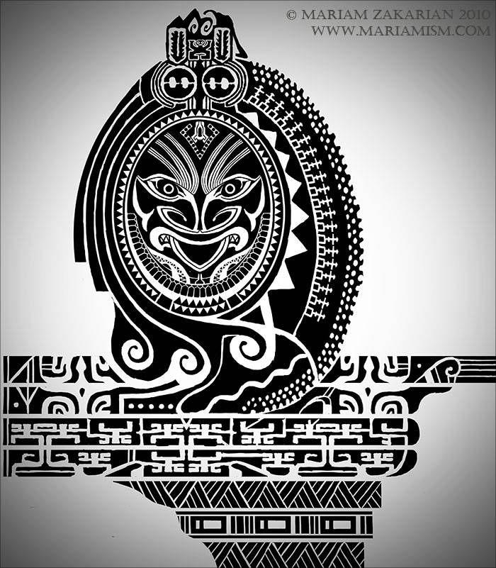 Marquesan Tribal Demon sleeve design