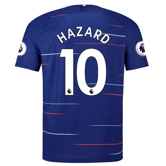 Chelsea F.C. Football club Hazard  10 Home Nike 2018-19 FÚTBOL SOCCER KIT  CALCIO 8baaef802