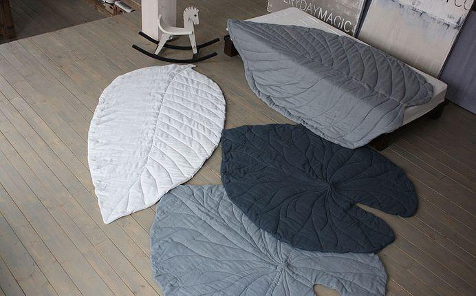 VIVIDGREY I Leaf Rugs — Designspiration