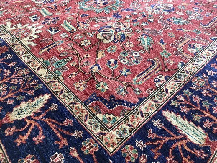 Fine Afghan vegetable dye Ferihan Chobi rug.  Stunning royal blue dyes are extracted from indigo root using traditional tribal methods.  #chobi  #wool #fine #pastel #colourtone #persian #persianrug #rug #rugs #ruglife #rozelle #sydney #sydneystyle #sydneylocal #interiordecor #interiordesign #decor #designinspiration #carpets #livingroomdecor #zieglardesign #vegetabledyes #organic #iloverugs