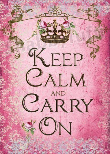 ...pink keep calm  Pretty