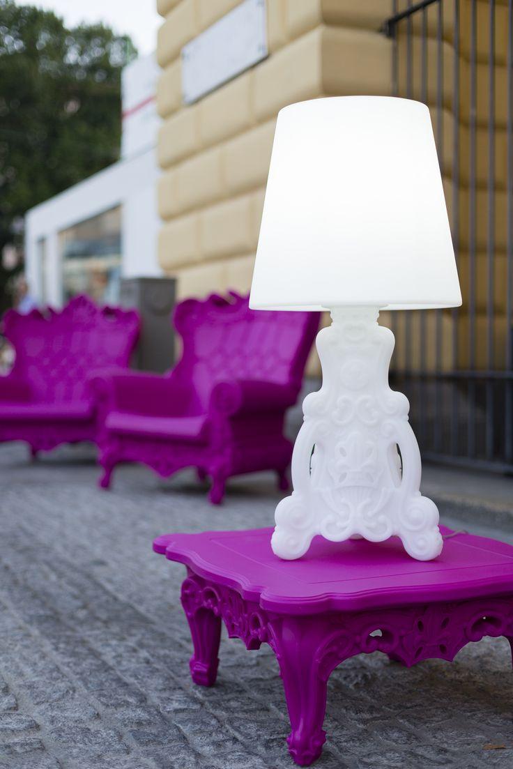 Duke Of Love Coffee Table And Lady Of Love Lamp, Design Moro Pigatti.