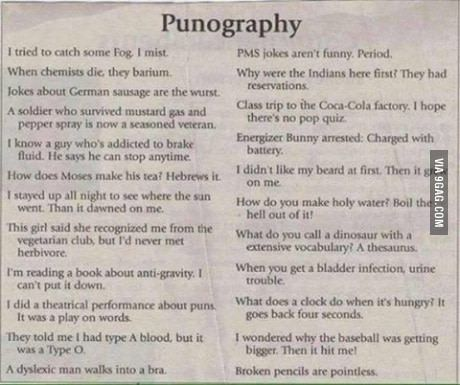 Give me your best (worst) puns