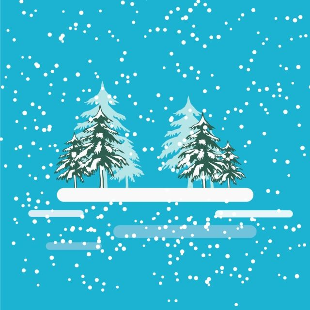 Winter Snowy Tree In The Middle Design Vector Winter Snow White Png And Vector With Transparent Background For Free Download Tree Photoshop Snowy Trees Tree Logo Design