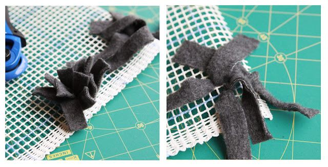 Little Gray Fox: DIY: Fleece Scraps Rug