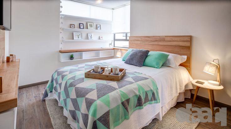 dormitorio piloto parque macul  #interiorismo #diseño #decoracion #daarq #bedroom #dormitorio