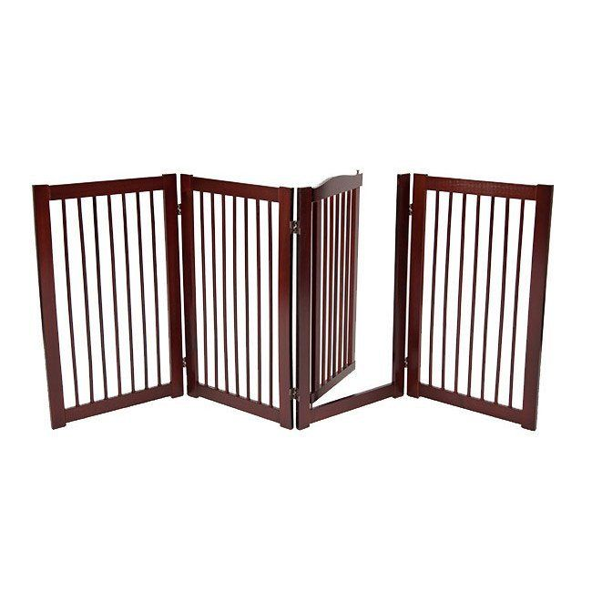 "360˚ DESIGNER DOG GATE WITH DOOR 36"" – Free shipping and tax included on all designer dog gates. Add style to your home with our luxury pet gates.  Perfect for puppies too! Our indoor and outdoor dog gates will be a great addition to your home.  #dog #doggate #talldoggate #petgate #puppygate #designerpetfurniture"