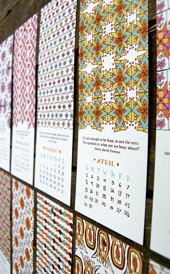 Letterpress calendar? Yes, please. So lovely. FREE SHIPPING 2012 Little Things Studio by littlethingsstudio, $15.00