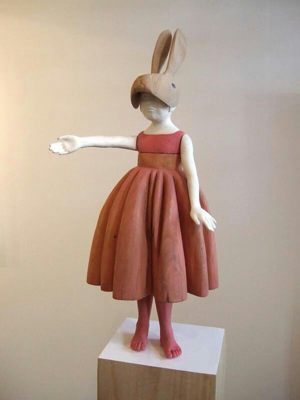 Haidee se beeld by Cape Town Art Fair - The Hare van die series Urban Masquarade - verkoop! Ja en masker kan beweeg. :)