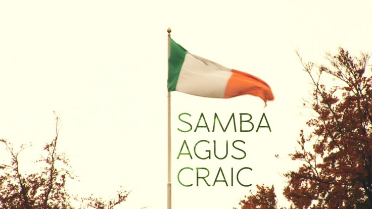 Samba agus craic [Éire/Ireland/2011/15'] Rapha Cruz agus Neutton Rodrigues.   Belfast 14th April   An Droichead, Cooke Street, Belfast -near the UTV studios  Dublin 17th April La Dolce Vita Wine Bar, Cow's Lane, Temple Bar