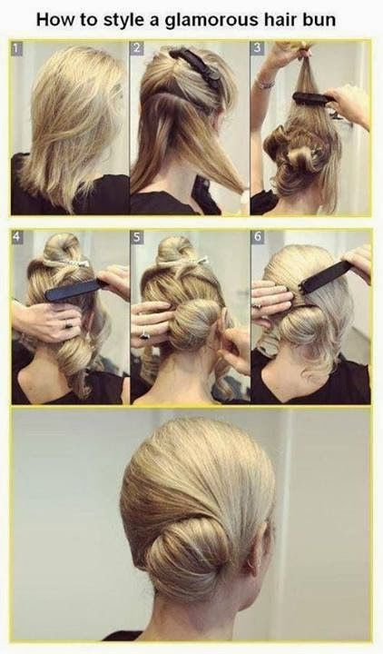 Stylish hair bun for skating practice (dressy enough for competitions, too!)