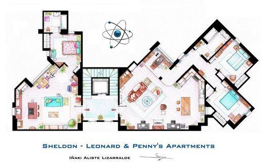 The Big Bang Theory Shelton 39 S Apartment Apartment 4a