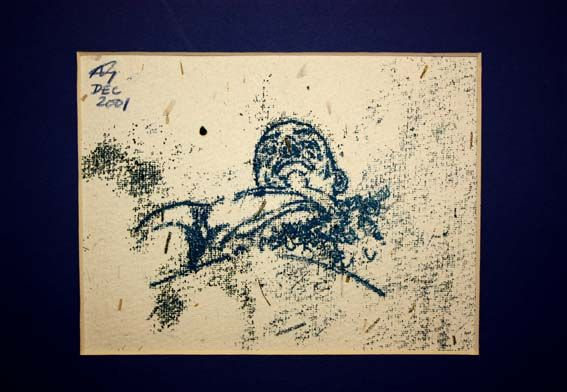 Self Portrait Monoprint (2001)