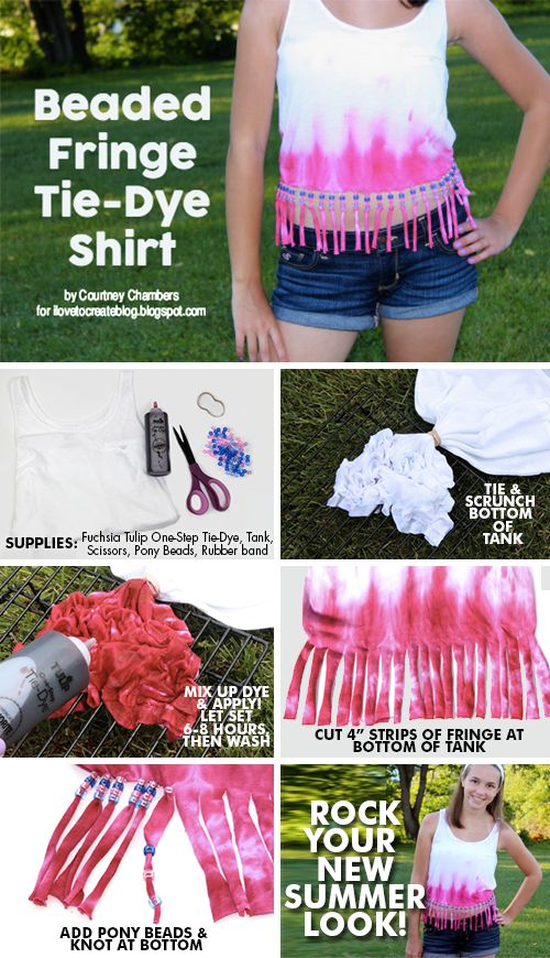Machen Sie ein Beaded Fringe Tank Top mit Courtney von @Alittlecraftinyourday!   – Tie Dye DIY & Crafts