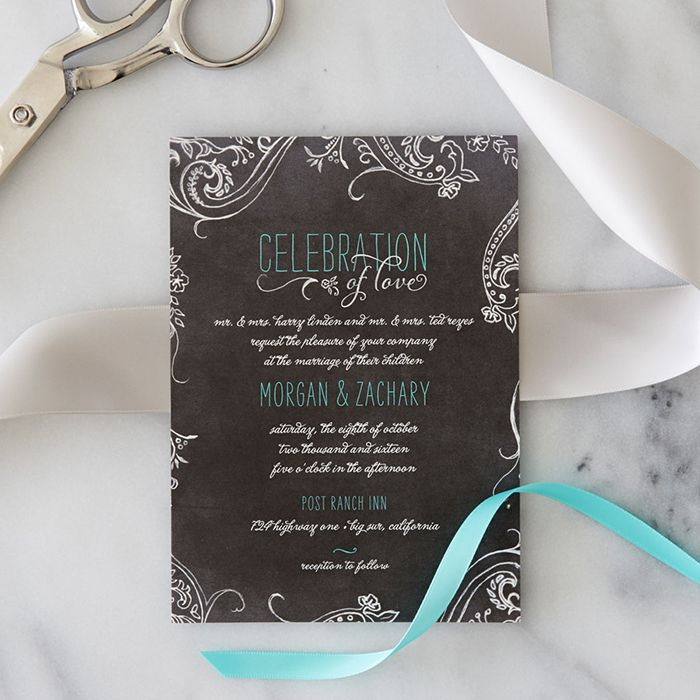 Use ribbons to tie around your invitations