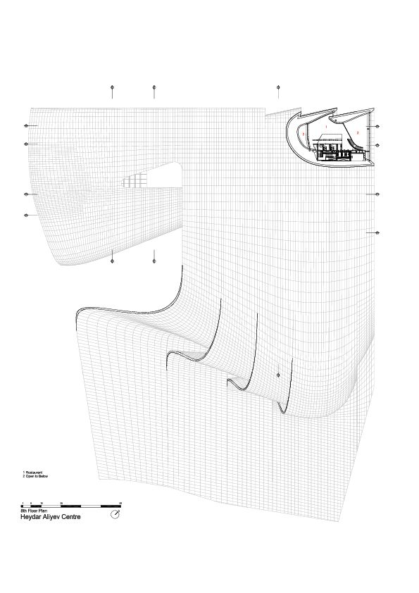 8th Floor Plan -> Heydar Aliyev Center / Zaha Hadid Architects