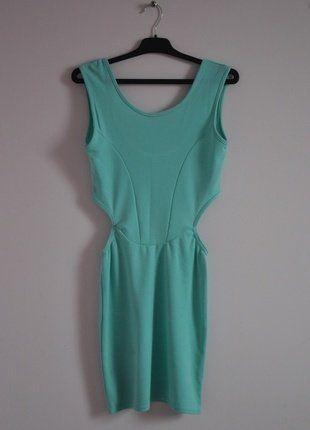 Kup mój przedmiot na #vintedpl http://www.vinted.pl/damska-odziez/krotkie-sukienki/16462574-mietowa-sukienka-z-wycieciami-pastelowa-seksowna