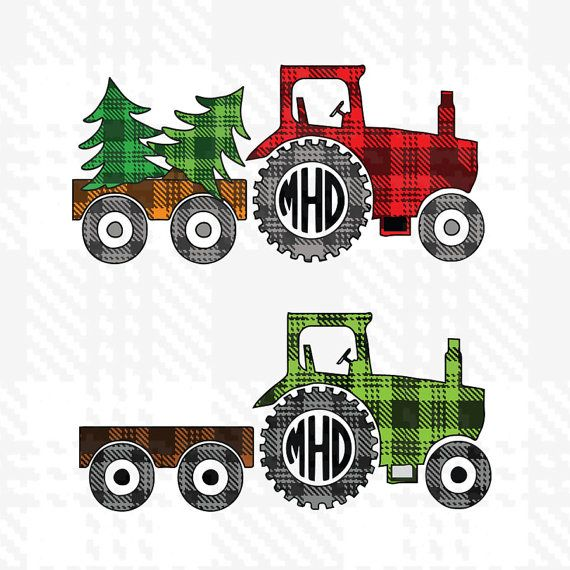 Christmas SVGFarm Tractor SVG File Cutting by Dxfstore on Etsy