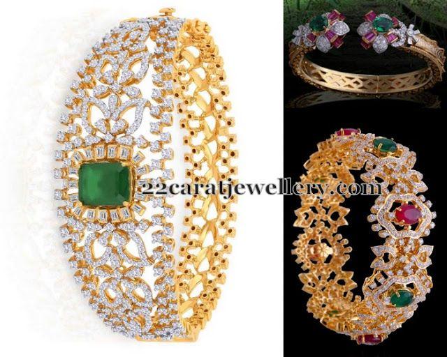 Jewellery Designs: Royal Look Diamond Kada Designs