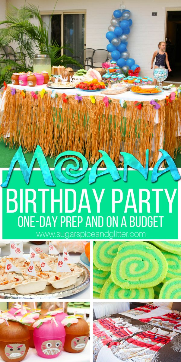 A Simple Diy Moana Birthday Party This Party Has So Many Fun Details In The Moana Themed Food Mo Simple Birthday Party Moana Themed Party Diy Birthday Party