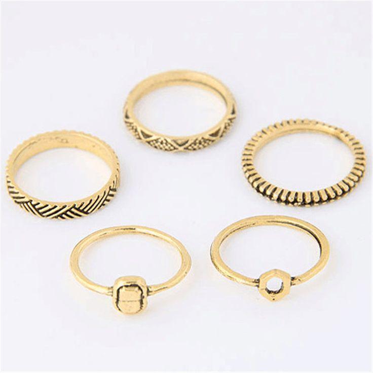 Купить Старинные кольцо устанавливает мода дизайнер античный сплав природа синий камень 5 шт. миди палец кольца для женщин conjuntos де anilloи другие товары категории Кольцав магазине Baylin jessie's storeнаAliExpress. кольцо кольцо звук и кольцо восстановление