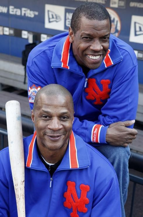 Darryl Strawberry and Dwight Gooden - New York Mets my heroes. go figure...hope the crack was worth it!!!